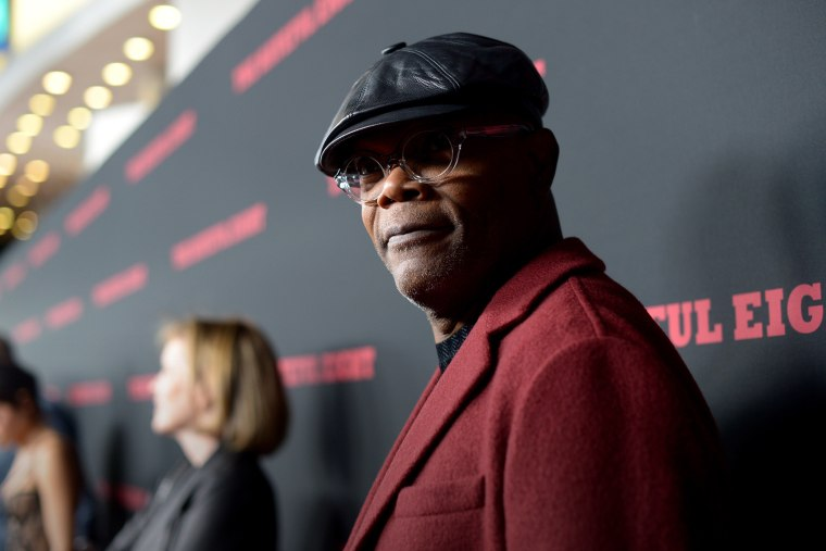 """Actor Samuel L. Jackson attends the world premiere of """"The Hateful Eight"""" at ArcLight Cinemas Cinerama Dome on Dec. 7, 2015 in Hollywood, Calif. (Photo by Charley Gallay/Getty)"""