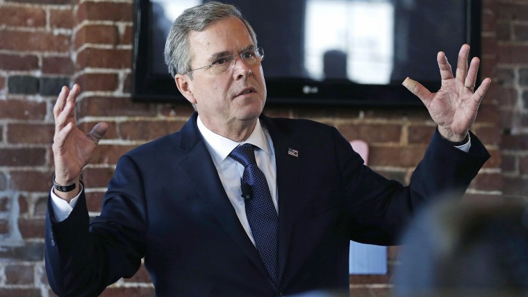 Republican presidential candidate, former Florida Gov. Jeb Bush gestures as he speaks during a campaign stop in Derry, N.H., Jan. 5, 2016. (Photo by Charles Krupa/AP)