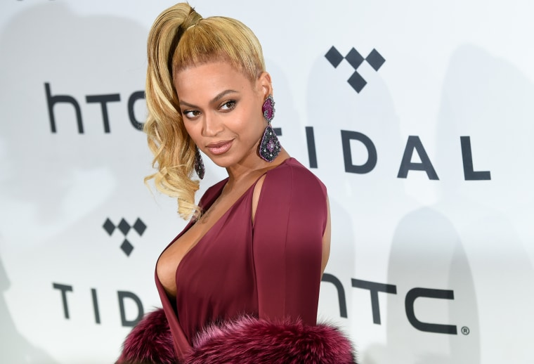 Singer Beyonce arrives at TIDAL X: 1020 Amplified by HTC at the Barclays Center, Oct. 20, 2015, in New York. (Photo by Evan Agostini/Invision/AP)