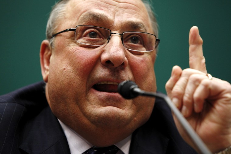 Maine Governor Paul LePage testifies before a U.S. House Energy and Commerce Subcommittee on Capitol Hill in Washington, May 13, 2015. (Photo by Jonathan Ernst/Reuters)