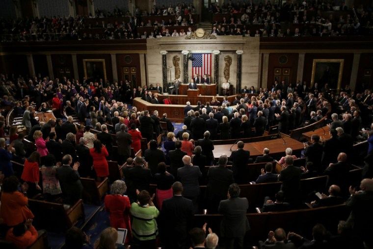 U.S. President Barack Obama is applauded as he delivers his State of the Union address to a joint session of Congress in Washington, Jan. 12, 2016. (Photo by Carlos Barria/Reuters)