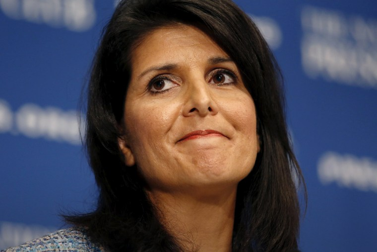 South Carolina Governor Nikki Haley speaks at the National Press Club in Washington Sept. 2, 2015. (Photo by Kevin Lamarque/Reuters)