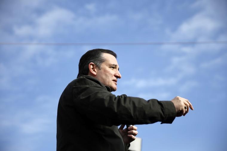 Republican presidential candidate Sen. Ted Cruz, R-Texas speaks on Jan. 12, 2016, during a campaign stop at Granite State Indoor Range in Hudson, N.H. (Photo by Matt Rourke/AP)