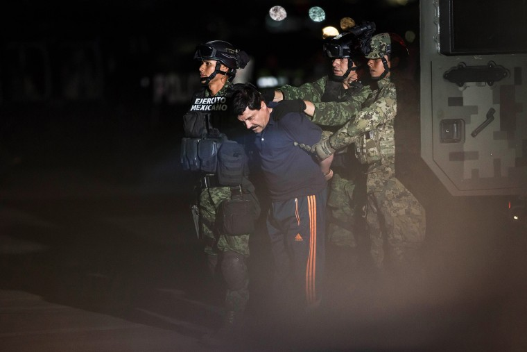 "Joaquin Guzman Loera, also known as ""El Chapo"" is transported to Maximum Security Prison of El Altiplano in Mexico City, Mexico on Jan. 8, 2016. (Photo by Daniel Cardenas/Anadolu Agency/Getty)"