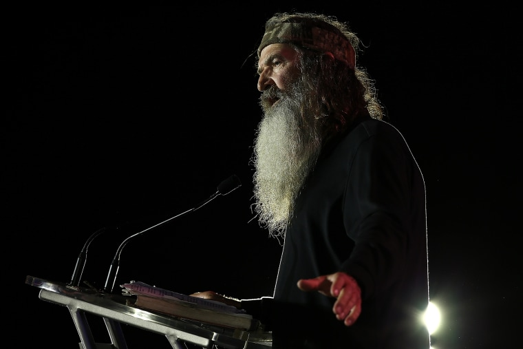 Reality TV personality Phil Robertson speaks during the 2014 Republican Leadership Conference on May 29, 2014 in New Orleans, La. (Photo by Justin Sullivan/Getty)