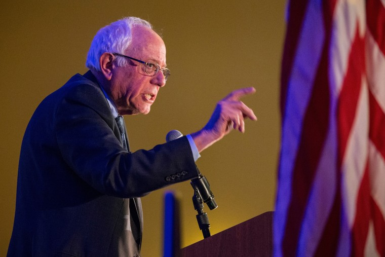 """Democratic presidential hopeful Sen. Bernie Sanders (I-VT) speaks at the \""""First in the South\"""" Dinner on Jan. 16, 2016 in Charleston, S.C. (Photo by Andrew Burton/Getty)"""
