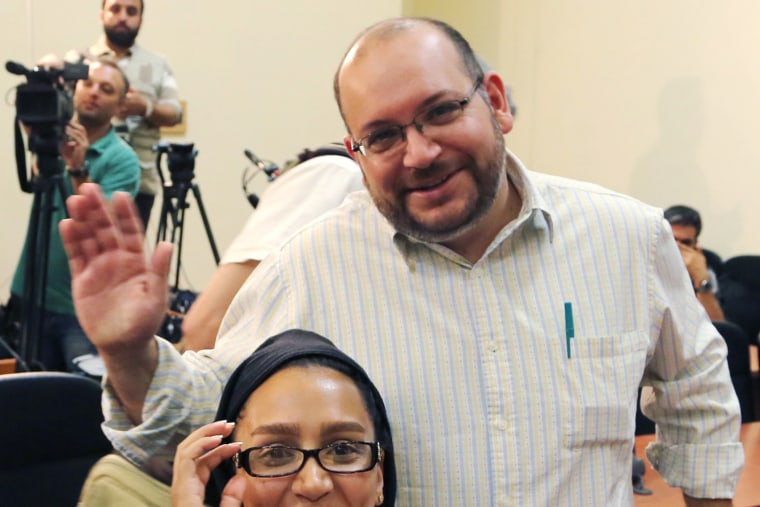 This archival photo shows the Washington Post Iranian-American journalist Jason Rezaian and his Iranian wife Yeganeh Salehi, in Tehran, Iran, Sept. 10, 2013. (Photo by Stringer/EPA)