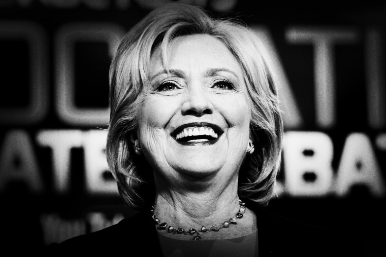 Democratic presidential candidate Hillary Clinton at the NBC, YouTube Democratic presidential debate at the Gaillard Center, January 17, 2016, in Charleston, S.C.