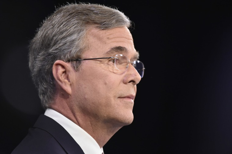 Republican presidential candidate, Jeb Bush participates in the spin room after the Fox Business Network Republican presidential debate, Jan. 14, 2016, in North Charleston, S.C. (Photo by Rainier Ehrhardt/AP)