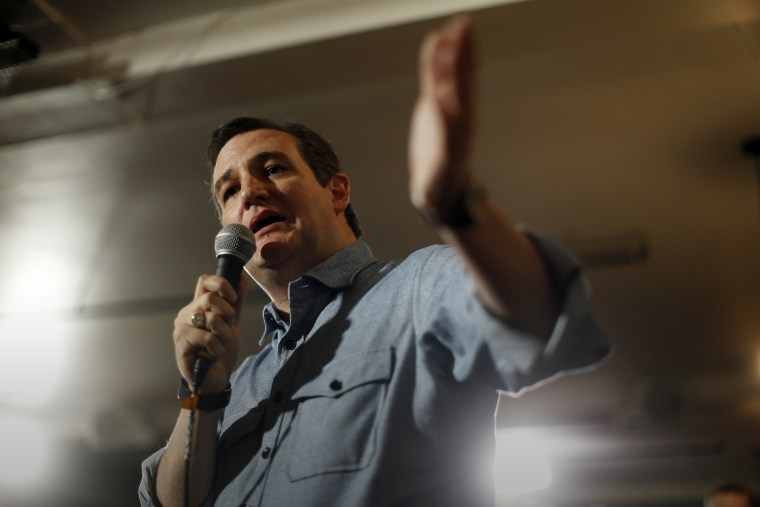 Republican presidential candidate Sen. Ted Cruz, R-Texas, speaks during a campaign stop, Jan. 17, 2016, in Milford, N.H. (Photo by Matt Rourke/AP)