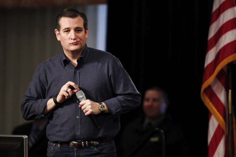 Texas Senator and Republican presidential candidate Ted Cruz checks a microphone during his speech at the South Carolina Tea Party Coalition Convention in Myrtle Beach, S.C., Jan. 16, 2016. (Photo by Randall Hill/Reuters)