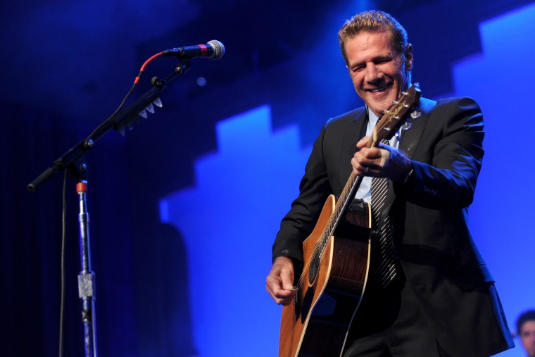 """Glenn Frey performs at the 12th Annual Starkey Hearing Foundation \""""So The World May Hear\"""" Gala on August 4, 2012 in St. Paul, Minn. (Photo by Diane Bondareff/Invision/AP)"""