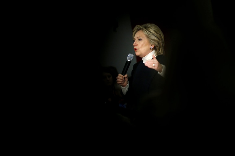 Democratic presidential candidate Hillary Clinton speaks during a town hall at the Toledo Civic Center in Toledo, Iowa, Jan. 18, 2016. (Photo by Patrick Semansky/AP)