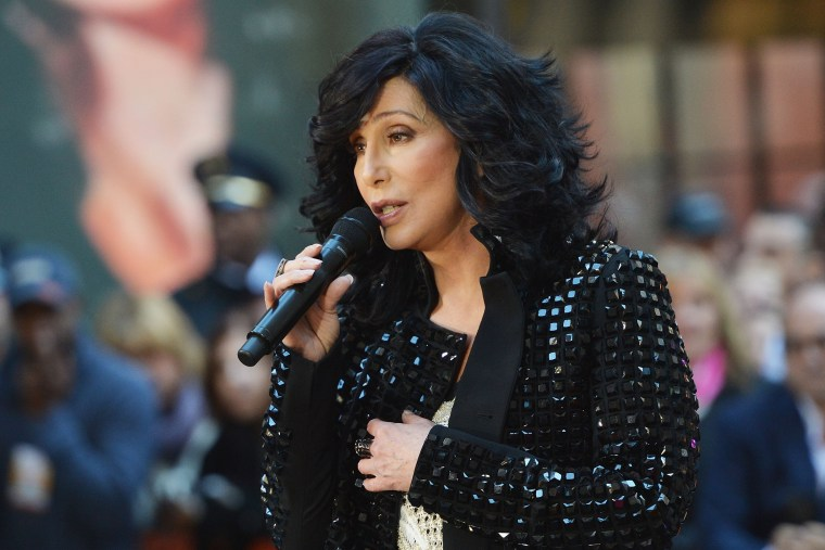 """Singer Cher performs on NBC's """"Today"""" on Sept. 23, 2013 in New York, N.Y. (Photo by Slaven Vlasic/Getty)"""