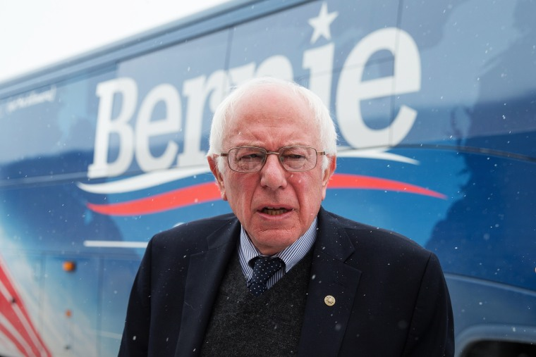 Democratic presidential candidate, Sen. Bernie Sanders, I-Vt. arrives to speak at a town hall, Jan. 19, 2016, at Santa Maria Winery in Carroll, Iowa. (Photo by Andrew Harnik/AP)