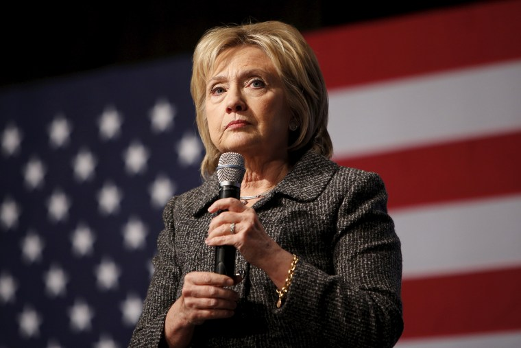 Democratic presidential candidate Hillary Clinton pauses during a campaign rally at Iowa State University in Ames, Iowa, Jan. 12, 2016. (Photo by Scott Morgan/Reuters)
