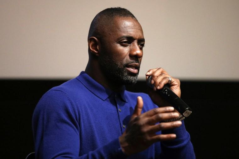 Actor Idris Elba speaks on stage on Dec. 2, 2015 in New York, N.Y. (Photo by Neilson Barnard/Getty)