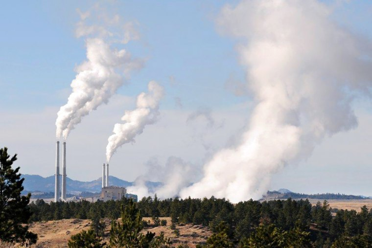 This Nov. 18, 2008 file photo shows the coal-fired power plant in Colstrip in southeastern Mont. (Photo by James Woodcock/Billings Gazette/AP)