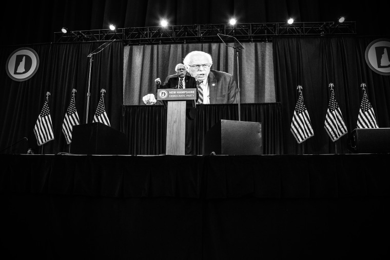 Democratic Presidential candidate Senator Bernie Sanders (I-VT) speaks during the New Hampshire Democratic Party State Convention on Sept. 19, 2015 in Manchester, N.H. (Photo by Mark Peterson/Redux for MSNBC)