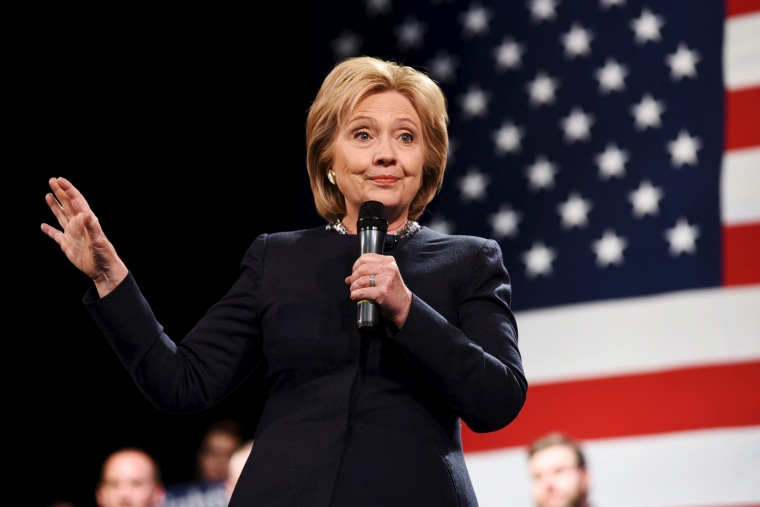 Democratic presidential candidate Hillary Clinton speaks at the Rochester Opera House campaign town hall meeting in Rochester, N.H., Jan. 22, 2016. (Photo by Faith Ninivaggi/Reuters)