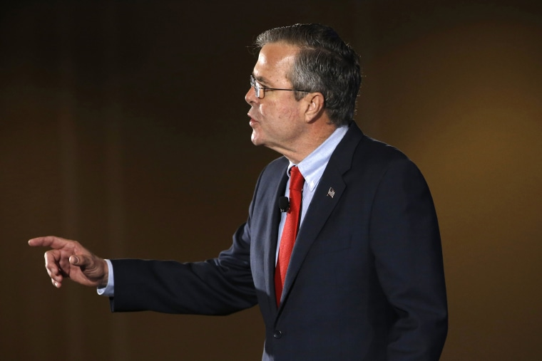 Republican presidential candidate, former Florida Gov. Jeb Bush speaks, Jan. 23, 2016, at the New Hampshire Republican Party summit in Nashua, N.H. (Photo by Matt Rourke/AP)