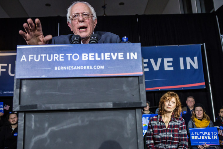Democratic presidential candidate Sen. Bernie Sanders (I-VT) speaks at a campaign rally at Music Man Square on Jan. 27, 2016 in Mason City, Iowa. (Photo by Brendan Hoffman/Getty)
