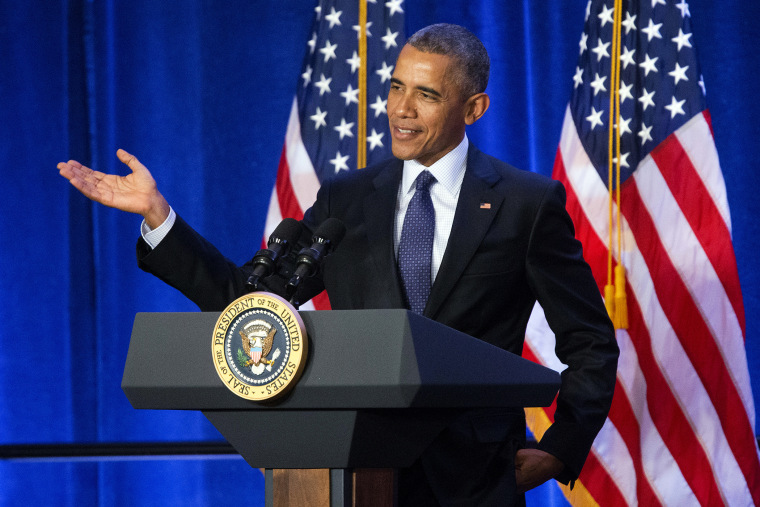 President Barack Obama speaks at the House Democratic Issues Conference in Baltimore, Md., Jan. 28, 2016. (Photo by Pablo Martinez Monsivais/AP)