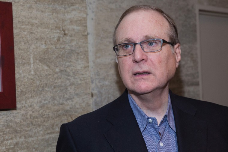 Seattle Seahawks team owner, philanthropist, investor, innovator and Microsoft co-founder Paul Allen attends a charity event at The Edgewater Hotel, Dec. 14, 2014 in Seattle, Wash. (Photo by Mat Hayward/Getty)