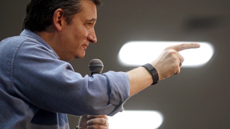 Republican presidential candidate, Sen. Ted Cruz, R-Texas, speaks during a campaign event at Western Iowa Tech Community College in Sioux City, Iowa on Jan. 30, 2016. (Photo by Patrick Semansky/AP)