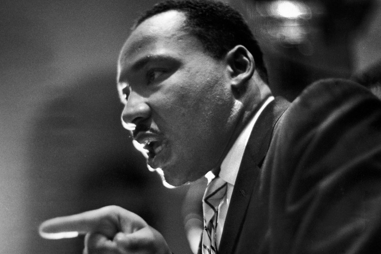 The Reverend Martin Luther King Jr delivers a speech. (Paul Schutzer/Time & Life Pictures/Getty Images)