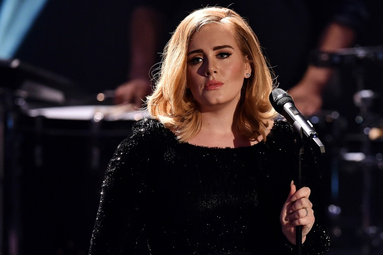 Adele performs during a Germany television concert special for RTL in Cologne, Germany on Dec. 6, 2015.  (Photo by Sascha Steinbach/Getty)