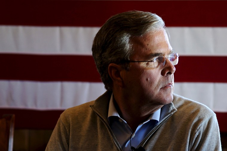U.S. Republican presidential candidate Jeb Bush waits to speak at a campaign event at the Greasewood Flats Ranch in Carroll, Iowa, Jan. 29, 2016. (Photo by Rick Wilking/Reuters)