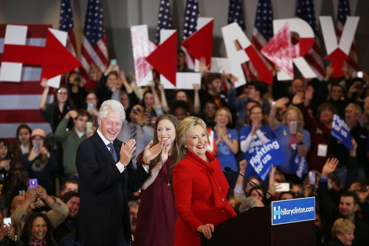Democratic presidential candidate former Secretary of State Hillary Clinton speaks to supporters during her caucus night event in the Olmsted Center at Drake University on Feb. 1, 2016 in Des Moines, Iowa. (Photo by Justin Sullivan/Getty)