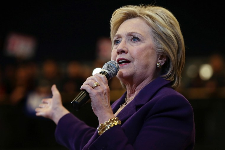 """Democratic presidential candidate former Secretary of State Hillary Clinton speaks during a """"get out the vote"""" event at Nashua Community College on Feb. 2, 2016 in Nashua, N.H. (Photo by Justin Sullivan/Getty)"""