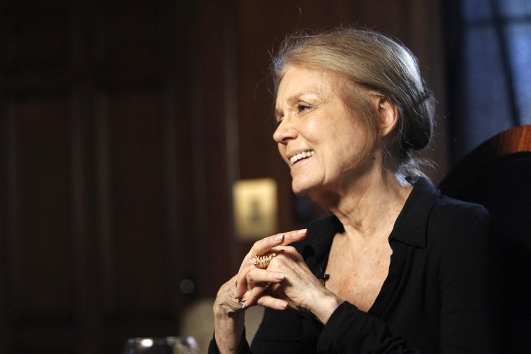 Pioneering feminist Gloria Steinem smiles while she is being interviewed in Beverly Hills, Calif., March 16, 2010. (Photo by Mario Anzuoni/Reuters)