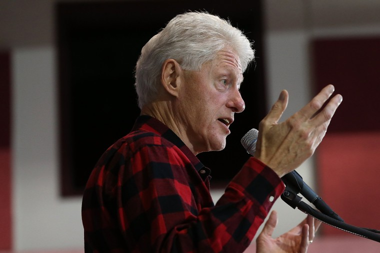 Bill Clinton Holds A Get Out The Vote Rally For Hillary Clinton In NH (Photo by Win McNamee/Getty)
