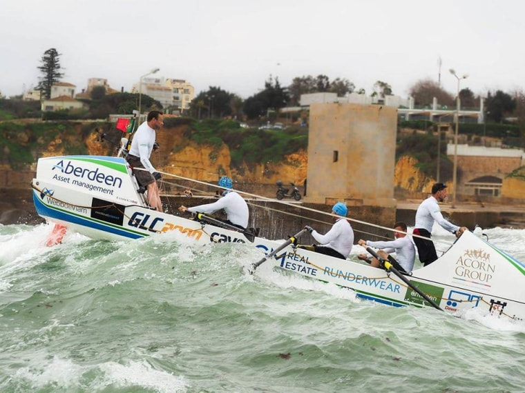 Team Essence practices off the coast of Portugal. (Photo by Tobi Corney/courtesy of NBC)