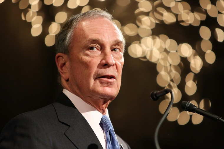 """Former Mayor of New York City, Michael Bloomberg, speaks at the \""""Not One More\"""" Event at Urban Zen on Feb/ 10, 2015 in New York City. (Photo by Monica Schipper/Getty)"""