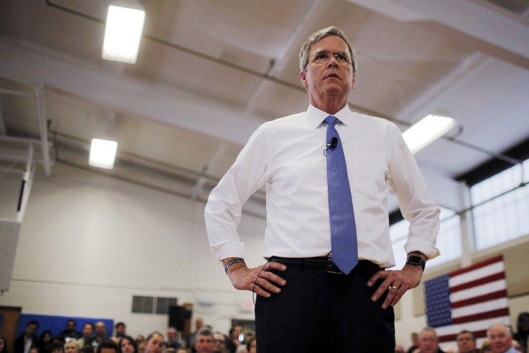 Republican presidential candidate Jeb Bush listens to a question from the audience during a campaign town hall meeting in Nashua, N.H., Feb. 7, 2016. (Photo by Brian Snyder/Reuters)