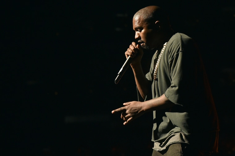 Musician Kanye West performs onstage at the 2015 iHeartRadio Music Festival at MGM Grand Garden Arena on Sept. 18, 2015 in Las Vegas, Nev. (Photo by Kevin Winter/Getty for iHeartMedia)