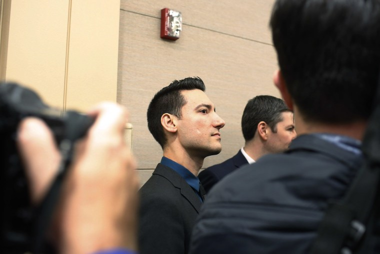 David Daleiden arrives for court at the Harris County Courthouse after surrendering to authorities on Feb. 4, 2016 in Houston, Texas. (Photo by Eric Kayne/Getty)