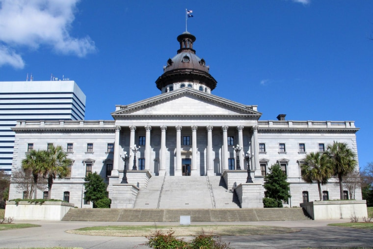 The South Carolina Statehouse is seen on Thursday, March 13, 2014, in Columbia, S.C.