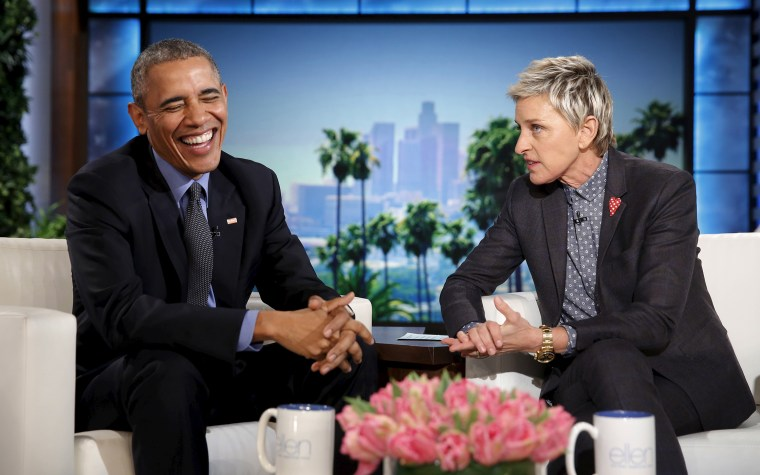 U.S. President Barack Obama appears on a taping of the Ellen DeGeneres Show in Burbank, Calif., Feb. 11, 2016. (Photo by Kevin Lamarque/Reuters)