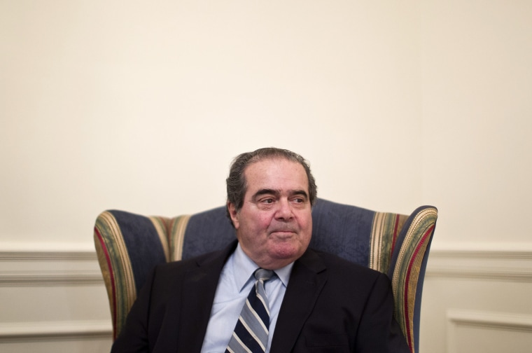 Supreme Court Justice Antonin Scalia is interviewed by The Associated Press, July 26, 2012, at the Supreme Court in Washington. (Photo by Haraz N. Ghanbari/AP)