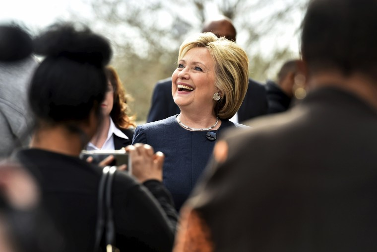 Democratic presidential candidate Hillary Clinton greets people in Las Vegas, Nev., on Feb. 13, 2016. (Photo by David Becker/Reuters)