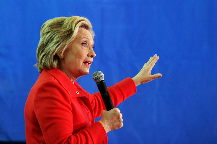 Democratic presidential candidate Hillary Clinton speaks at a rally at Truckee Meadows Community College in Reno, Nev., Feb. 15, 2016. (Photo by James Glover/Reuters)
