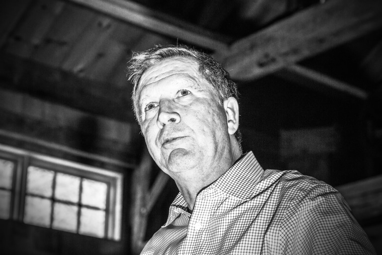 Ohio Gov. John Kasich speaks at a rally in Hollis, N.H., Feb. 5, 2016. (Photo by Mark Peterson/Redux for MSNBC)