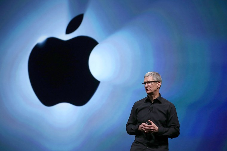 Apple CEO Tim Cook speaks during an Apple special event at the Yerba Buena Center for the Arts on Sept. 12, 2012 in San Francisco, Calif. (Photo by Justin Sullivan/Getty)