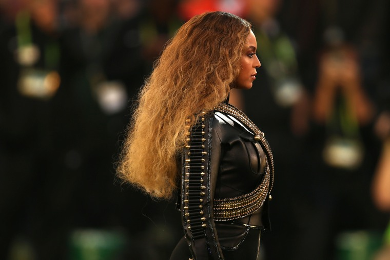 Beyonce performs onstage during the Pepsi Super Bowl 50 Halftime Show at Levi's Stadium on Feb. 7, 2016 in Santa Clara, Calif. (Photo by Matt Cowan/Getty)