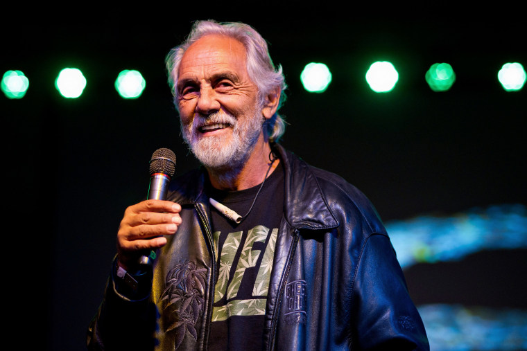 Actor Tommy Chong is pictured at an event on Feb. 17, 2013 in San Bernardino, Calif. (Photo by Jerod Harris/WireImage/Getty)